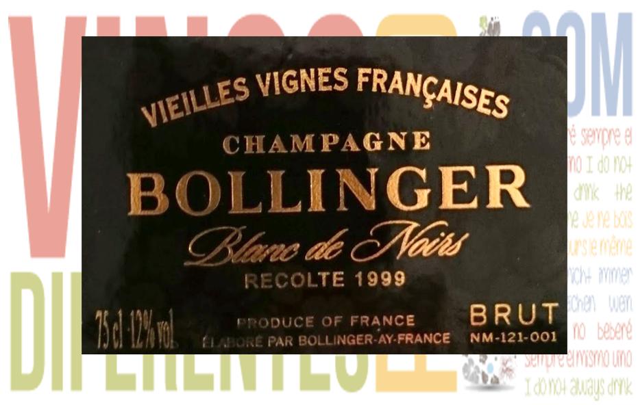 Bollinger Vieilles Vignes 1996. Bodega Bollinger