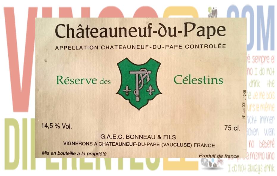 Réserve des Célestins 2000. Bodega Henri Bonneau.