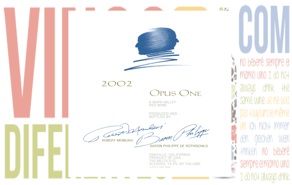 Opus One 2002. Bodega Opus One de Napa Valley.