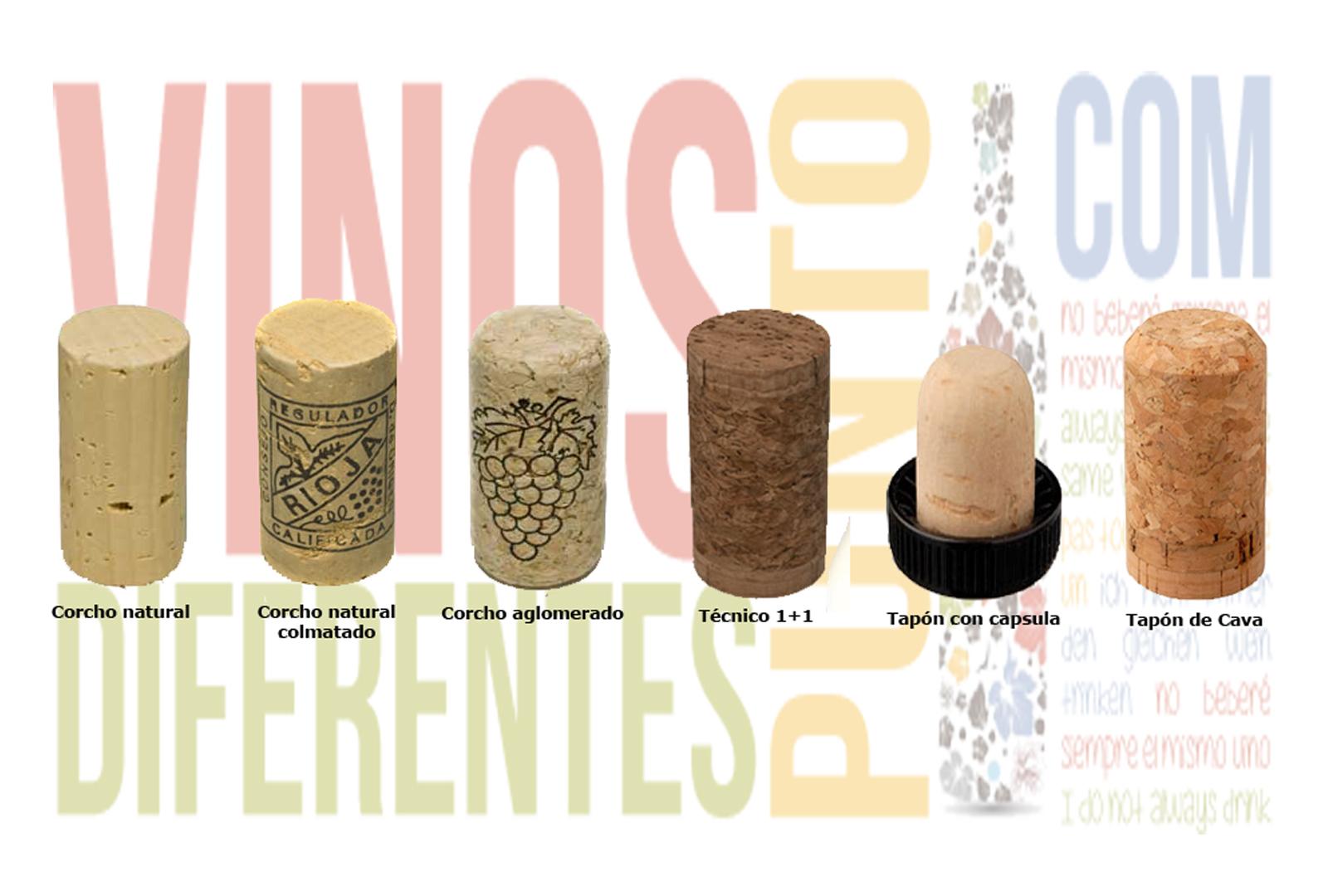 Corchos de vino más usados. Producto ecológico
