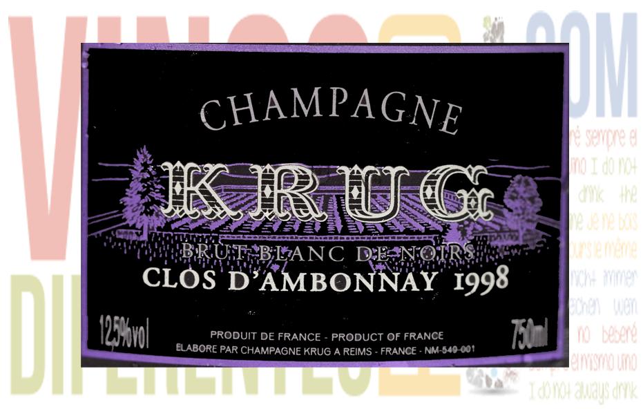 Krug Clos D´Ambonnay 1998. Bodega Krug