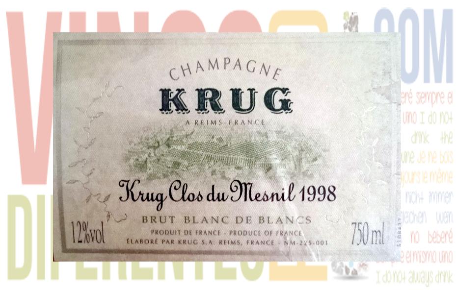 Krug Clos du Mesnil 1998. Excepcional.