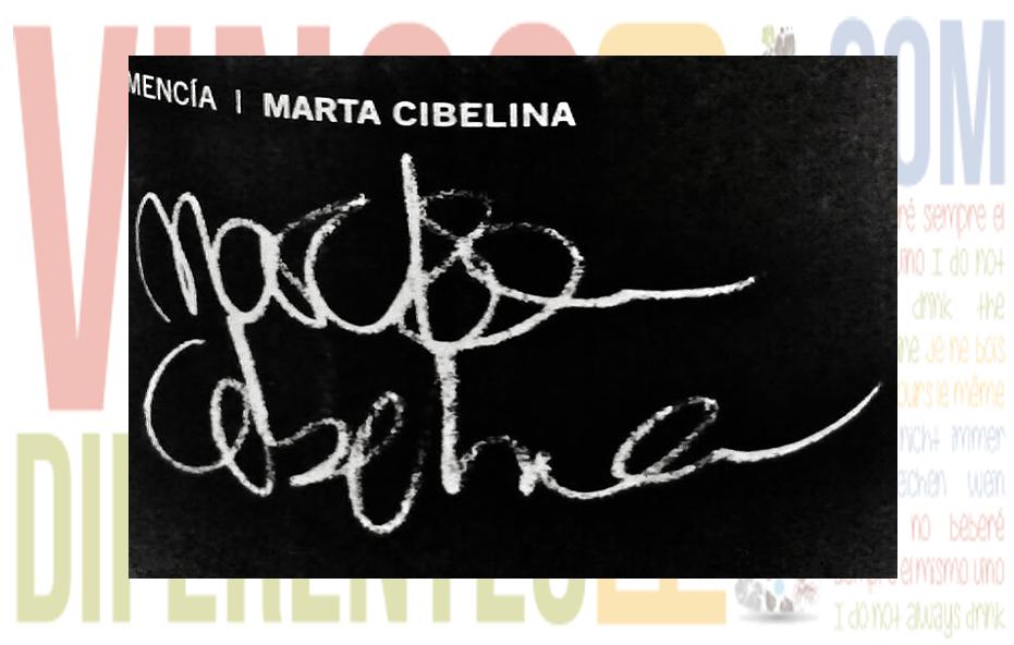 Marta Cibelina 2007. Bodegas El Linze.