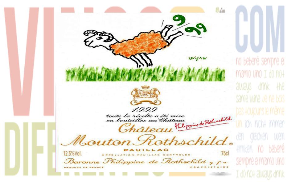 Château Mouton-Rothschild 1999. Grand Cru Classé