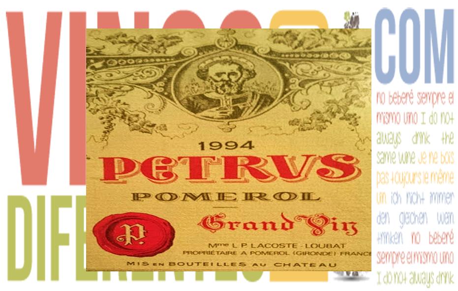 Petrus 1994. Un mítico vino de Burdeos.