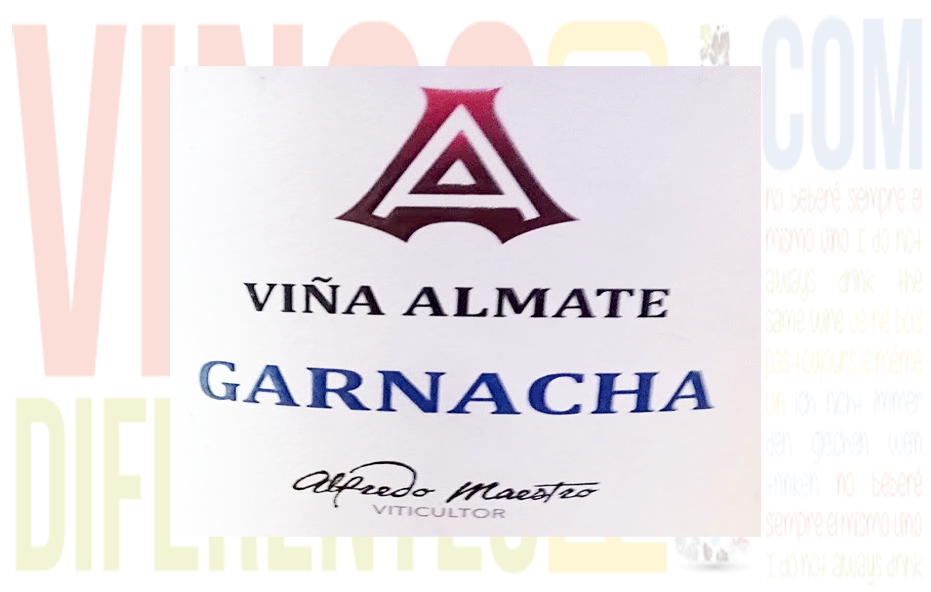 Viña Almate Garnacha 2013. Bodega Alfredo Maestro.