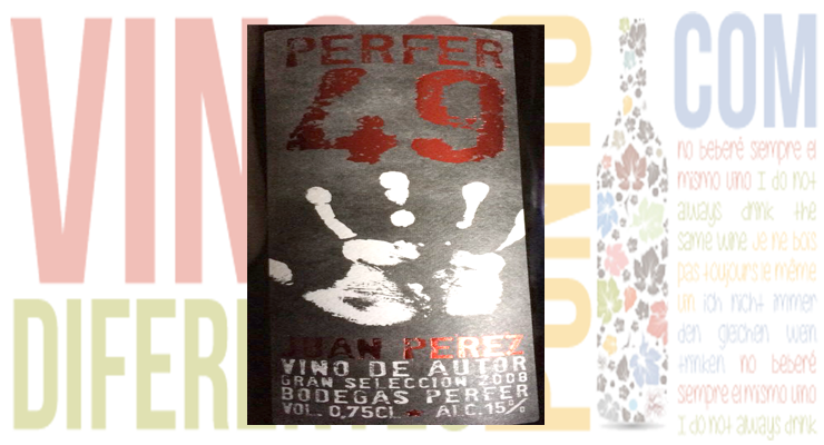 Perfer 49. Gran Selección 2008. Bodegas Perfer.