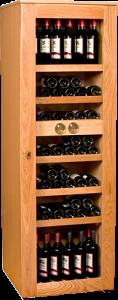 Imagen. Una Vinoteca de madera es decorativa y permite almacenar las referencias imprescindibles.