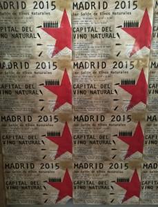Cartel del Primer Salón de Vinos Naturales de Madrid. Primer Salón de Vinos Naturales de Madrid