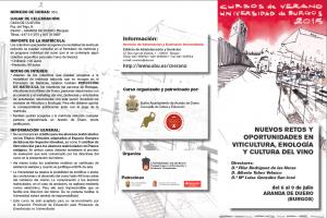 Tríptico. Nuevos retos y oportunidades en Viticultura Enología y Cultura del Vino.