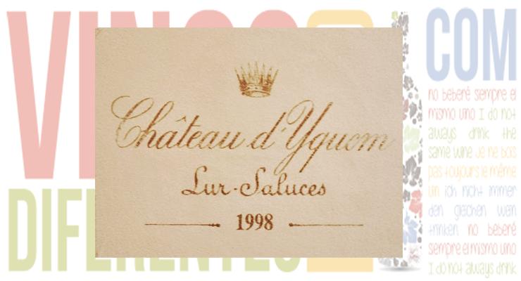 Château d´Yquem 1998.  Sauternes -Burdeos- (Francia).