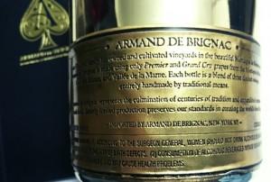 Armand de Brignac: etiqueta de estaño