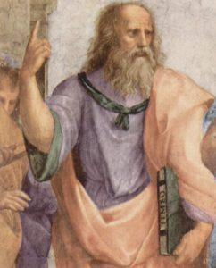 Pintura de Platón (- 428 a - 347). Frases sobre vino