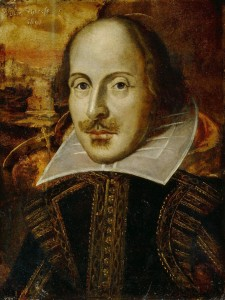 Retrato de William Shakespeare. Frases sobre vino