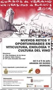 Cursos de verano Universidad de Burgos 2015. Nuevos retos y oportunidades en viticultura, enología y cultura del vino.