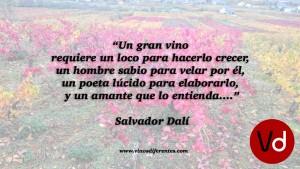 Salvador Dalí. Frases sobre vino