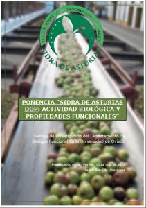 Sidra de Asturias DOP. Pinche aquí para descargar el dossier con la ponencia