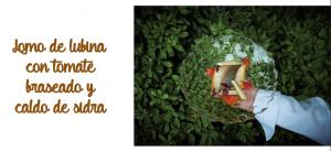 imagen de lomo de lubina con tomate braseado y caldo de sidra