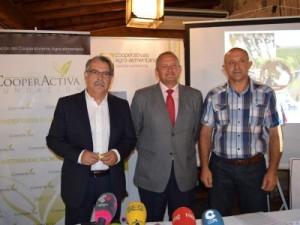José Luis Rojas, Ángel Villafranca y Francisco Garrido. Cooperativas Agro-alimentarias Castilla-La Mancha