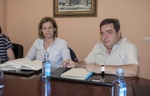 La presidenta de la Denominación de Origen Monterrei, Asunción Rodríguez y el alcalde de Verín, Gerardo Seoane.