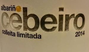 Imagen Albariño 2014: Cebeiro Colleita Limitada