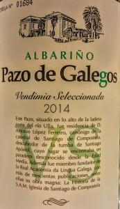 imagen Albariño 2014: Pazo de Galegos Vendimia Seleccionada