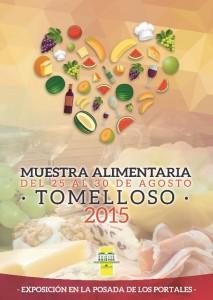 imagen cartel muestra alimentaria 2015. feria de tomelloso
