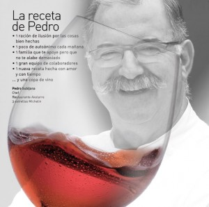 Imagen, quien sabe beber sabe vivir. La receta de Pedro Subijana.