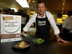 Imagen de`restaurantes contra el hambre´ con el chef Joan Roca como padrino
