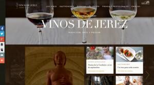 Imagen de la nueva página web para el consejo regulador de la D.O. Vinos de Jerez