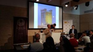 Imagen de la presentación de la Ruta del Vino Cigales en la Expo de Milán