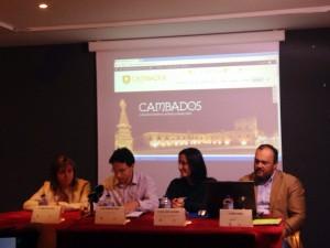 Imagen de la presentación de la nueva web de Cambados, www.cambadosenoturismo.com