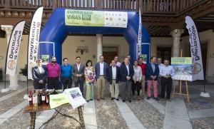 MIGUEL ANGEL SANTOS. VALLADOLID. 2/09/2015. PALACIO DE PIMENTEL La Diputación de Valladolid presenta el circuito de carreras pedestres Vendimia 2015, Corriendo entre viñas