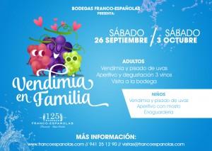 """Imagen de """"vendimia en familia"""" con Bodegas Franco-Españolas"""