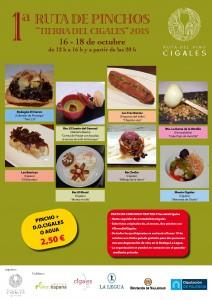 """Imagen cartel Tierra del Cigales. Los productos elaborados en la Ruta del Vino Cigales son protagonistas en la I Ruta de Pinchos """"Tierra del Cigales"""""""