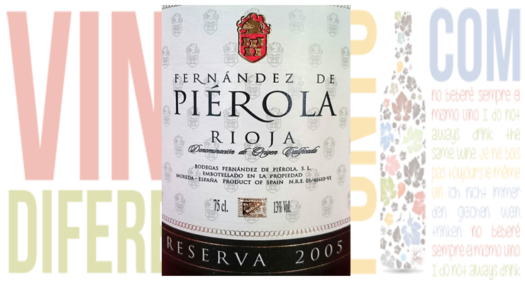 Fernández de Piérola Reserva 2005. D.O.Ca. Rioja.