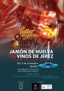Imagen cartel taller sensorial. DO Jerez-Xérès-Sherry