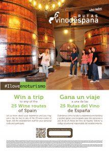 Imagen cartel promocional #ILoveEnoturismo de Rutas del Vino de España