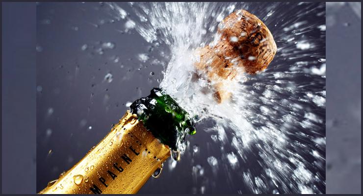 Como abrir una botella de champagne o cava.