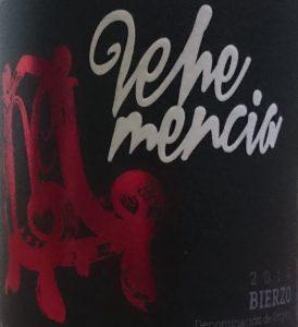 Imagen. Etiqueta de Vehemencia 2014