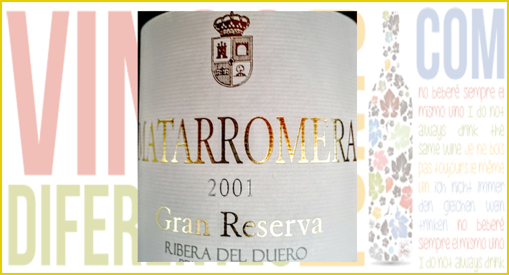 Matarromera Gran Reserva 2001. Vino de noviembre.