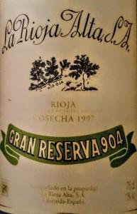 Gran Reserva 904 cosecha 1997. Un gran vino nacido de una cosecha mediocre