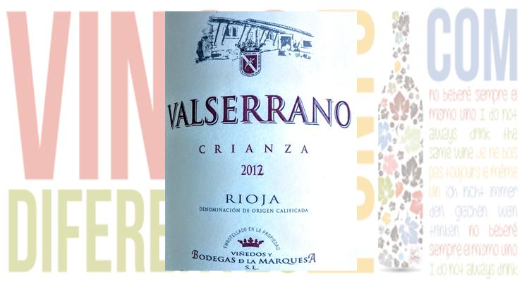 Valserrano Crianza 2012. D.O. Ca. Rioja.