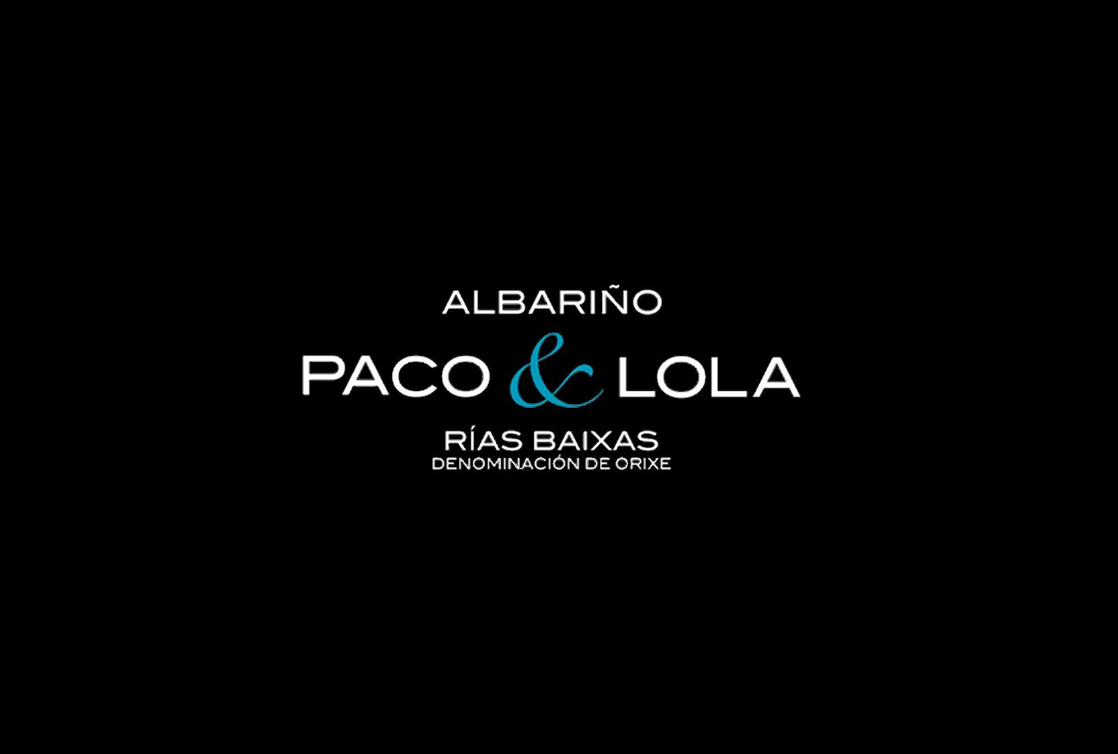 """Albariño Paco & Lola. Sello """"Galicia Calidade""""."""