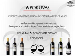Mediante el microsite llamado #Aporuvas, del 20 al 31 de diciembre Bodegas Emilio Moro sorteará una botella diaria