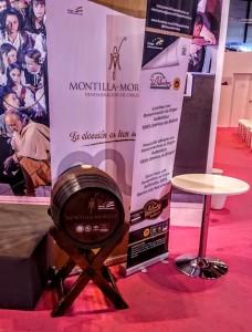 Imagen. Barrica de Montilla-Moriles en el estand de Andalucía en Fitur 2016