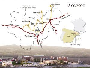 Accesos Bodega Pirineos