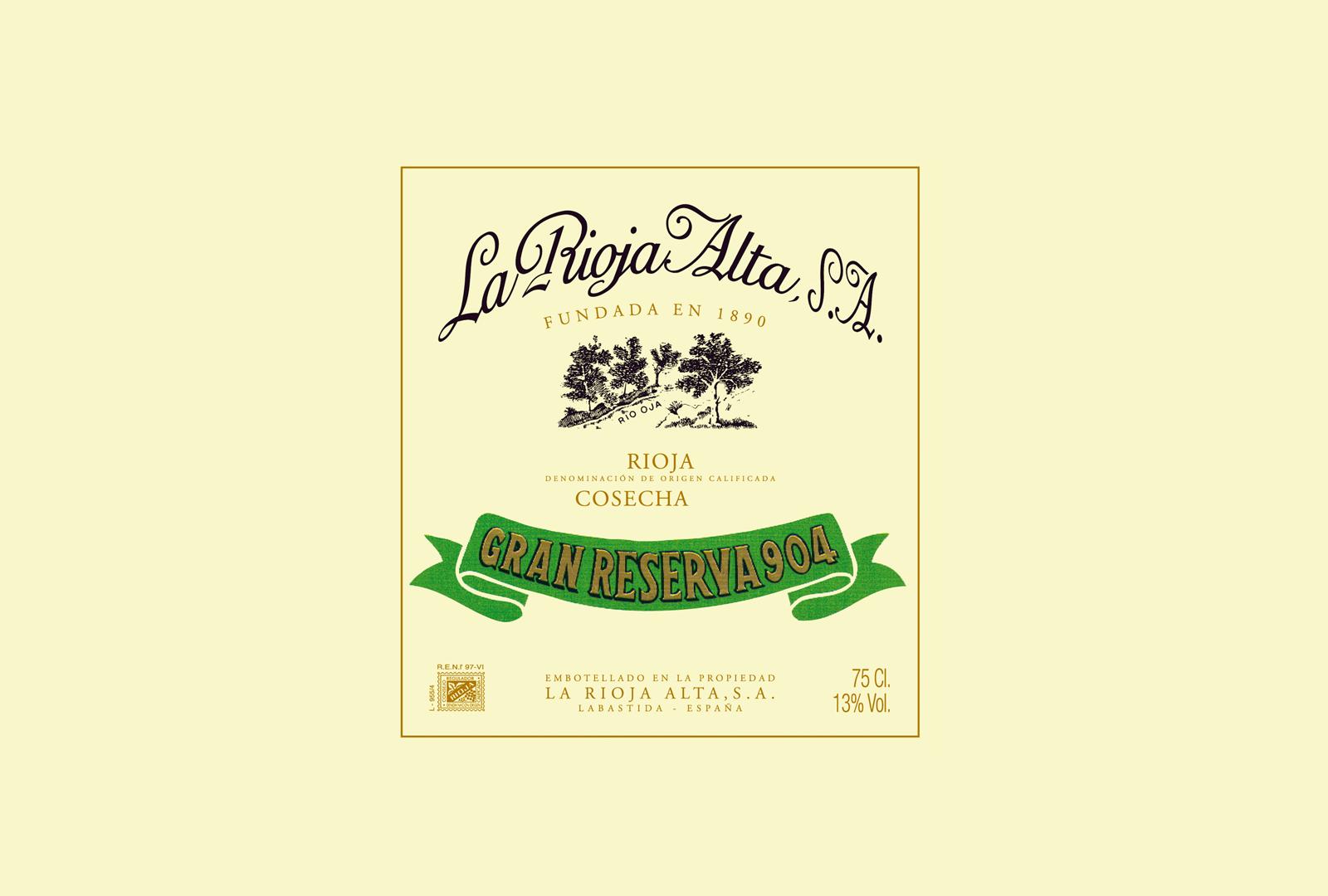"Gran Reserva 904, el ""borgoña"" de La Rioja Alta."