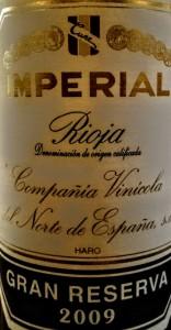 Imagen. Etiqueta tradicional de Imperial Gran Reserva.