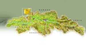 Mapa de la DO Ribera del Duero, obtenido de su página web.